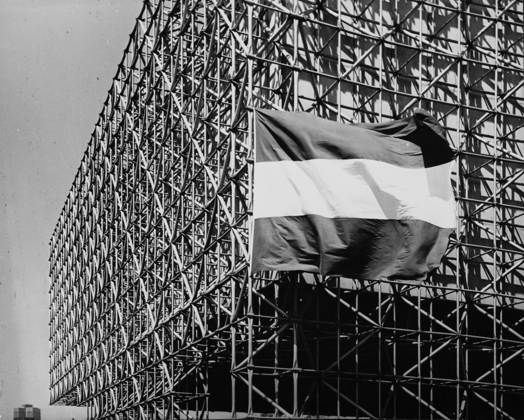 Dutch pavilion World Expo Montreal, Canada, 1967. Architects: W. Eijkelenboom and A. Middelhoek. Photographer unknown. Collection National Archives of the Netherlands.